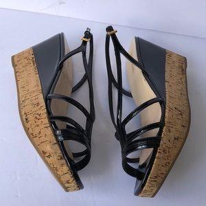 Prada Black Patent Leather Strappy Sandal